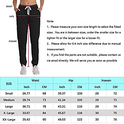 HISKYWIN Women's Athletic Yoga Lounge Pants Drawstring Waist Active Joggers Sweatpants with Pockets at Women's Clothing store