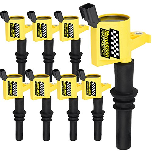 - High Performance Ignition Coil 8 Pack For Ford F150 Mercury Lincoln V8 V10 4.6L 5.4L 6.8L Compatible with DG511 C1541 FD508 (Yellow)