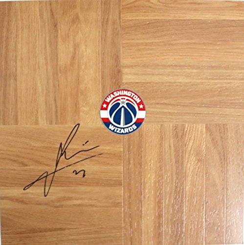 Ian Mahinmi Washington Wizards Signed Autographed Basketball Floorboard