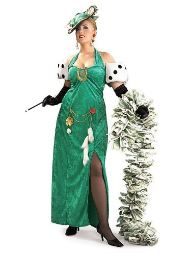 Lady Luck Costume (Rubie's Costume Co. Women's Plus Size Lady Luck Costume, As Shown, One)