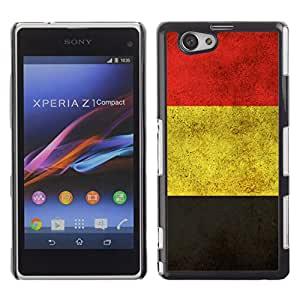 CASEMAX Slim Hard Case Cover Armor Shell FOR Xperia Z1 Compact D5503- GERMANY GERMAN GRUNGE FLAG