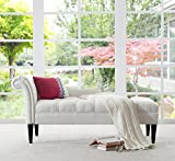 Jennifer Taylor Home Samuel Collection Traditional Hand Tufted Right Arm Facing Chaise Lounge, Star White