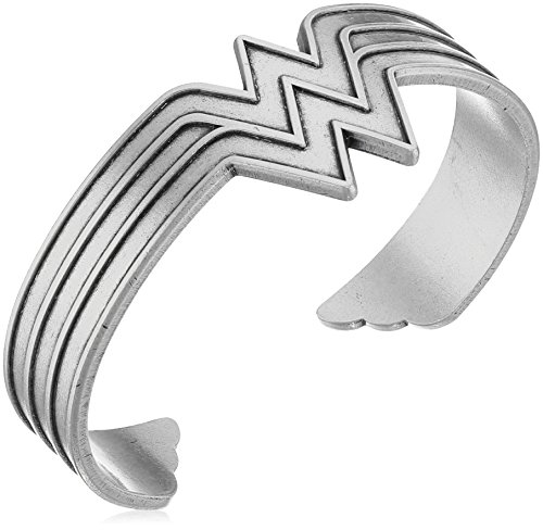 Alex and Ani Wonder Woman Rafaelian Silver Cuff Bracelet (Wonder Woman Cuff Bracelet)