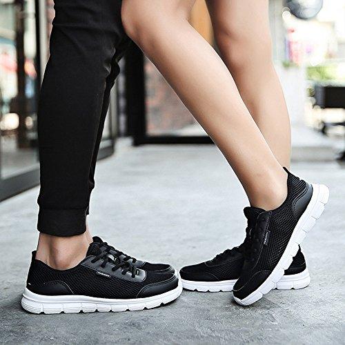 Lace Breathable Shoes Sport de Casual up Shoes Men Sonnena Chaussures Noir Mesh Sneakers Couple Comfortable 4qWtfxw40n