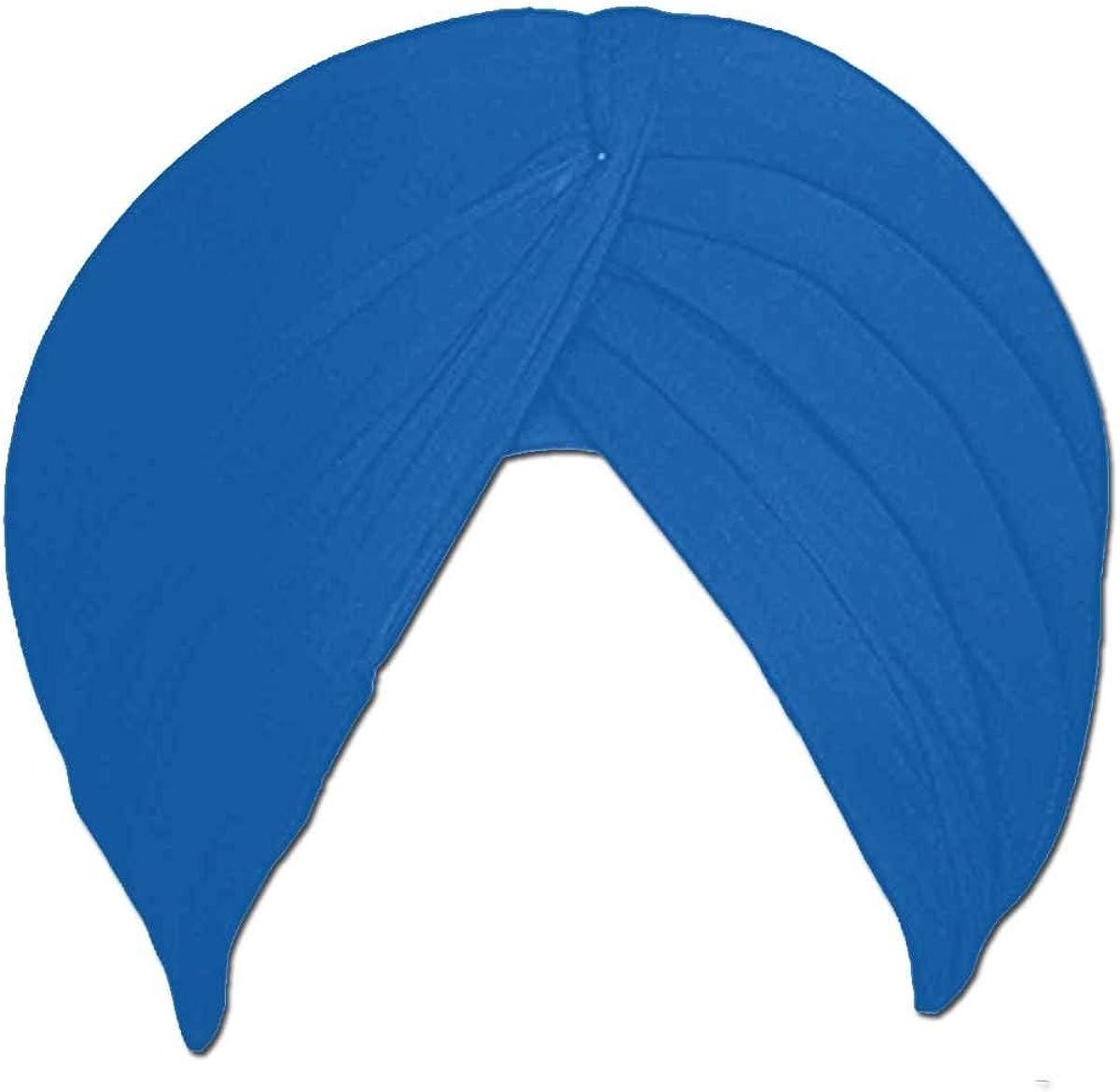 5 Meter Unstitched Double Punjabi Pagri Color Sikh Cotton Turban for Men