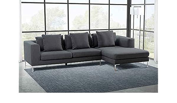 My-Furniture - Sofá Linear rinconero Derecho Malaga Slate ...