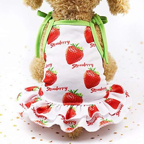 Miniature Shirt Dachshund Denim (Jim-Hugh Summer Cool Pet Dog Skirt Vest Couple Suit Breathable Dogs Vest Dresses Chihuahua for Puppy Outfits)