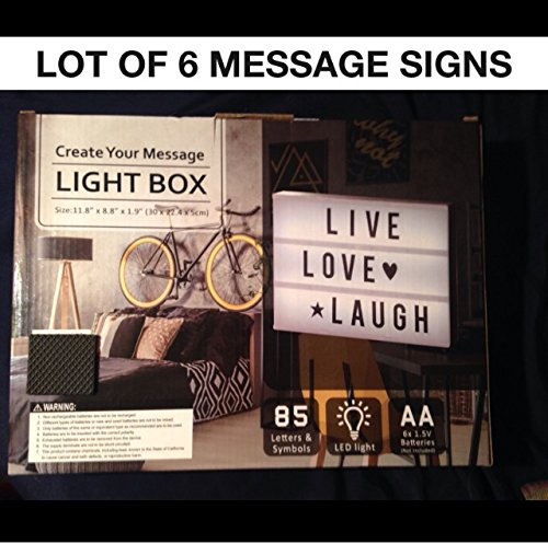 Movie Poster Display Case - A4 Cinema Marquee Message Light Sign Movie Display Box Decoration Wedding Anniversary LED Hollywood Party Birthday DIY Vanity Makeup Mirror Business Table Desk Glow In The Dark 85 Letters Symbols