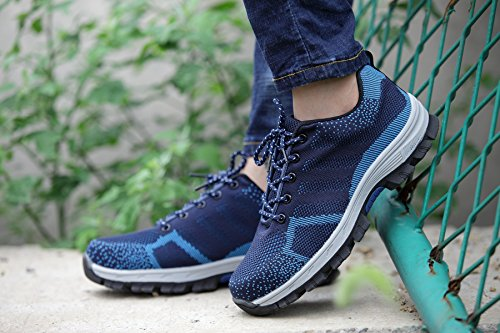 Large Steel Light Blue Fashion Men Size Shoes Safety Toe Breathable Caps Work Weight Mesh Summer wX1xqx