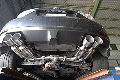 Invidia HS08ST5GM4SS Back Exhaust 08-14 Subaru WRX Hatchback Gemini/R400 Stainless Steel Tip Cat - Exhaust Wrx Invidia