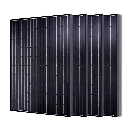 4 Pieces of Renogy 280 Watt 24 Volt Monocrystalline Solar Panel by Renogy