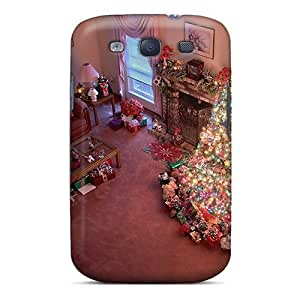 Premium Tpu Christmas And Happy New Year Beautiful Christmas Tree Cover Skin For Galaxy S3