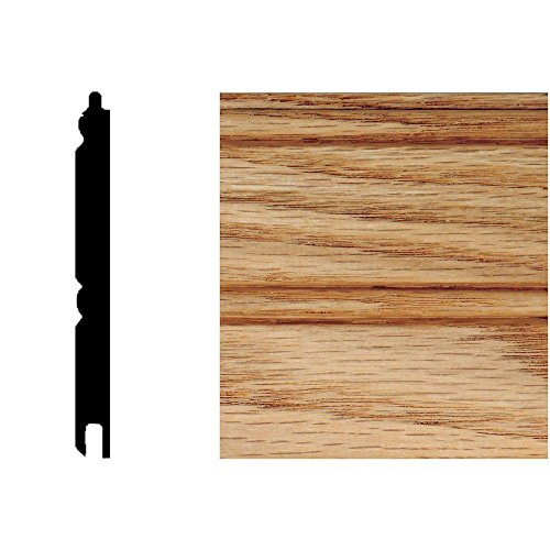 5/16 in. x 3-1/8 in. x 32 in. Red Oak Tongue & Groove Wainscot (1-Piece) (Red Oak Tongue And Groove Wainscot Paneling)