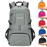 Cheap ZOMAKE Ultra Lightweight Hiking Backpack, 35L Foldable Water Resistant Travel Daypack Packable Backpack Outdoor Camping(Silver Grey)