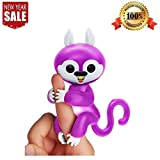 Freefa Finger Puppets Finger Squirrel Interactive Baby Toy for Children,Better Quality,Electronic Pet Toy for Kids Baby Best Gift (Purple)