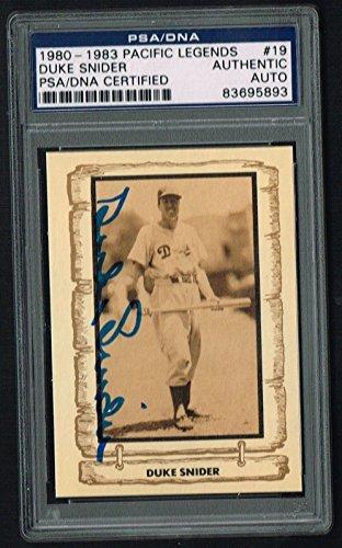 Duke Snider 1980 Cramer Baseball Legends signed autograph card PSA/DNA Slabbed 1980 Baseball Legends