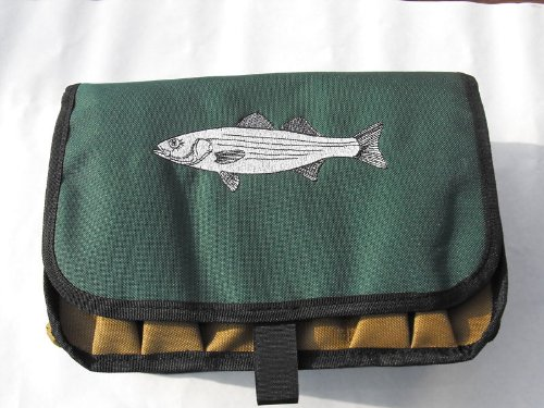 Fisherman Lures (Striper Saltwater Surf Fisherman's Lure & Plug Ten Compartment Bag Case w/ Drain Holes)