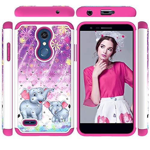 - LG K30 Case,LG K10 2018 Case, LG Premier Pro LTE Case, LG Phoenix Plus/LG K10 Plus/LG K10 Alpha Case, 2 in 1 Dual Layer Shockproof Bling Diamond Sparkly Defender Protective Skin Cover Fireworks icon