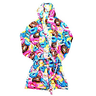 Confetti and Friends Kid's Fuzzy Plush Printed Robe With Hood