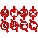 Islamic Eid & Ramadan Stencils Set - 8