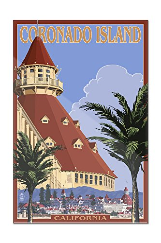 Coronado Island, California - Hotel Del Coronado (12x18 Acrylic Wall Art Gallery Quality)