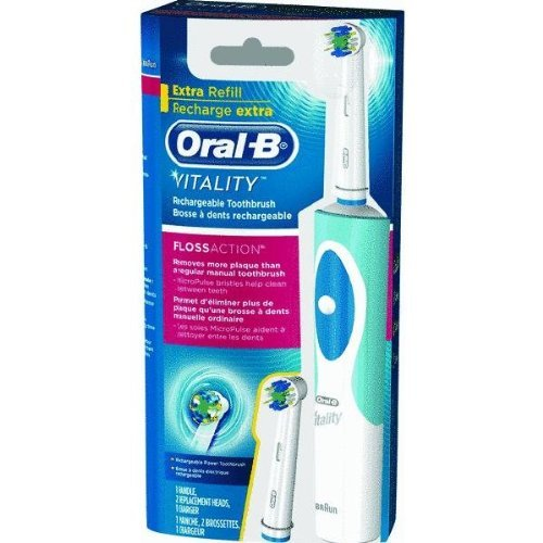 Price comparison product image Oral B Vitality FlossAction Vitality Floss Action Rechargeable Power Toothbrush