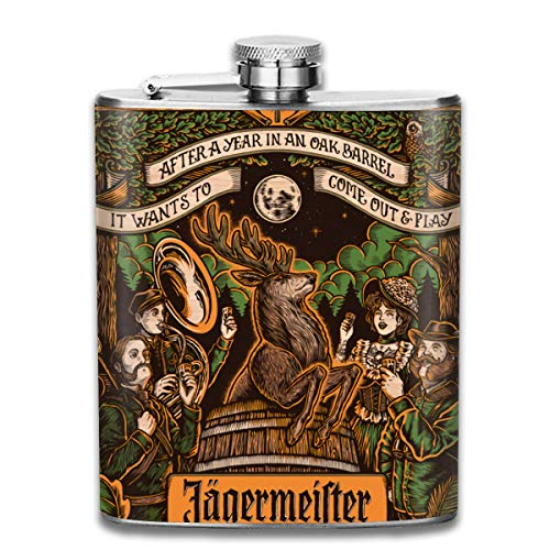 Jagermeister 7OZ Flask Stainless Steel Flask Exquisite Leak-Proof Flagon Gift