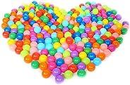 Nuxn 100pcs Kids Bit Balls Soft Plastic Small Play Balls Colorful Ocean BallsPhthalate Free BPA Free Non-To