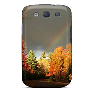 Top Quality Protection Rainbow Over An Autumn Forest Case Cover For Galaxy S3
