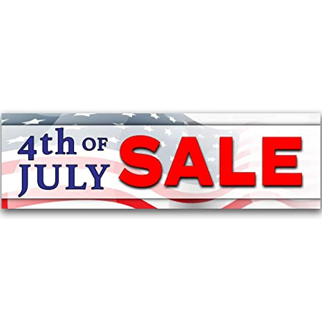 Amazon com : 4th of July Sale Vinyl Banner 10 Feet Wide by 3