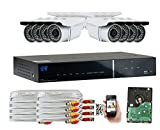 GW Security 1080P HD-AHD 8 Channel Video Security Camera System – Eight 2.1 MP Sony Cmos Weatherproof Bullet Cameras, 100ft IR LED Night Vision, Pre-Installed 2TB HD For Sale