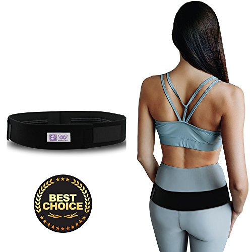 Pelvic Belt - Everyday Medical Sacroiliac SI Joint Support Belt For Pelvic and SI Pain Relief - Supports the Sacroiliac Joint - Alleviates Hip Pain, Lower Back, Sciatica, Lumbar And Discomfort (M - Hips 34-40