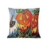 Polyester Happy Halloween Pgojuni Pillow Case Throw Pillow Cover Cushion Cover Pillow Case Home Decor 1pc (45cm X 45cm) (I)