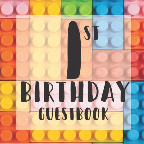 Themed Parties Ideas (1st Birthday Guest Book: Building Blocks Bricks Toys Themed - First Party Baby Anniversary Event Celebration Keepsake Book - Family Friend Sign in ... W/ Gift Recorder Tracker Log &)
