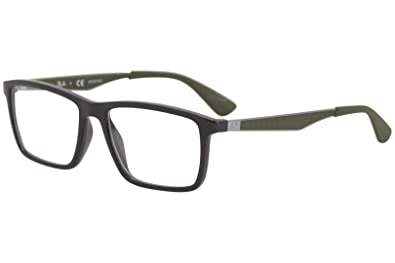 990d73af4c Ray-Ban Men s 0rx7056 No Polarization Rectangular Prescription Eyewear  Frame