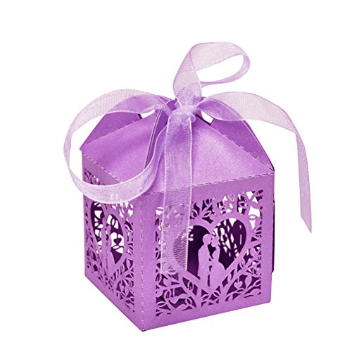 Gift Bags & Wrapping Supplies - 10pcs Set Bride And Groom Love Heart Party Wedding Hollow Baby Shower Favors Gifts Candy Boxes - Beer Lingerie Props Bibs Games Covers Questions -