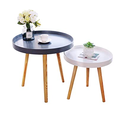 Amazon Com Round Table Small Sofa Side Table Bedroom Bedside Table