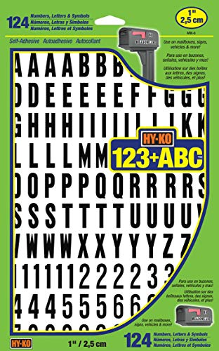 Hy-Ko Products MM-6 Self Adhesive Vinyl Numbers and Letters 1