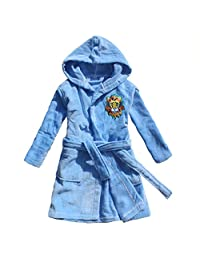 Lion King Embroidered Boy Bathrobe 100% Cotton Child Robe