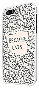 552 - Because Cats Collage Sketch Multi Cats Cute FunkyDesign For iphone 5 5S Fashion Trend CASE Back COVER Plastic&Thin Metal