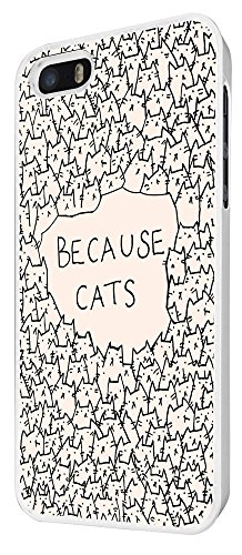 552 - Because Cats Collage Sketch Multi Cats Cute Funky Design iphone 4 4S Coque Fashion Trend Case Coque Protection Cover plastique et métal - Blanc