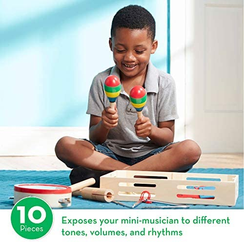 toys, games, learning, education, musical instruments,  drums, percussion 5 discount Melissa & Doug Band-in-a-Box Clap! Clang deals