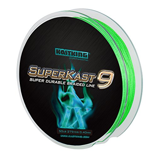 NEW! KastKing SuperKast9 - 9 Strand Braided Fishing Line – Advanced Braid Line for Maximum Casting Distance & Durability for Saltwater & Fresh Water Surf Fishing, Bass Fishing
