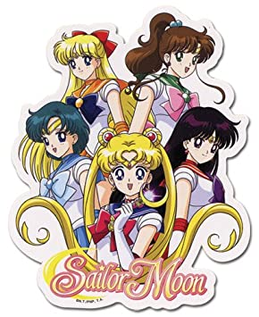 Sailo Moon Sailor Soldiers Group Sticker (peluca)