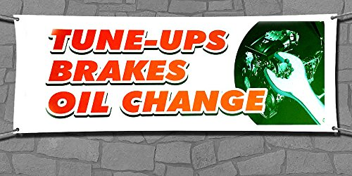 Premium Quality Tune UPS Banner Sign by FestaPrint - Waterproof - UV protected- Size: 18''x48'' - Ready to Use Perfect for Outdoor Use comes with 4 grommets (24''x72'', Tune UPS) (Halloween 2 Theme Tune)