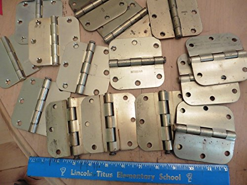 lot-of-15-hinges-brass-colored-35-rounded-edges-stanley-morgan-bwi-kutty-brand