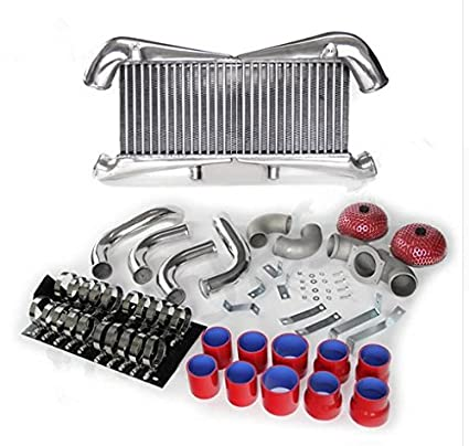 GOWE Intercooler Kit for RED FOR Nissan 300ZX Twin Turbo Fairlady Z32 VG30DETT Aluminum Intercooler Kit