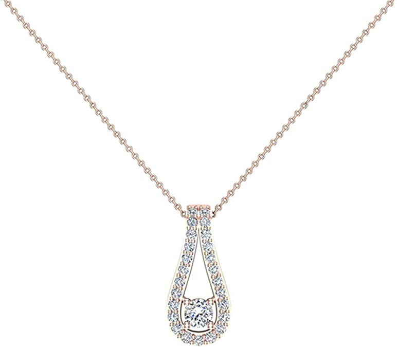 Grey Diamond 14K Gold Necklace rose cut diamond pendant raw diamond necklace solitaire necklace teardrop gold pendant 4mm tiny diamond