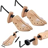Babz 2x Women's Shoe Stretchers / 3-Way Expanders For Stretching Ladies' Shoes - Expands Length, Width & Height of Tight Footwear
