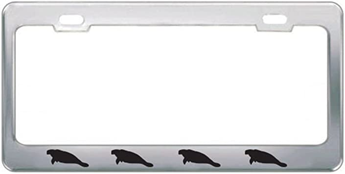 Speedy Pros Metal License Plate Frame Panda Bear Animal Style A Car Accessories Chrome 2 Holes